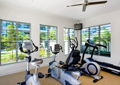 Altair Louvres can be installed into gyms within the complex so you can enjoy the outdoor environment while being protected from the elements.