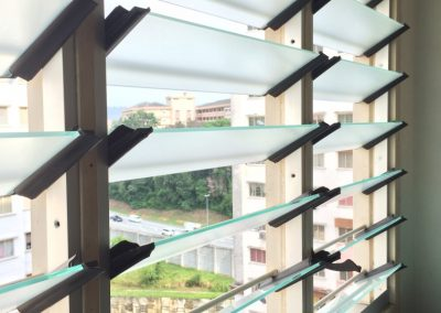 Breezway Louvres have replaced old nako louvres