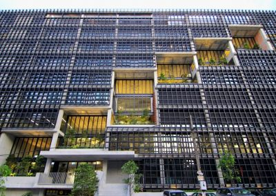 External close up of Breezway louvres in PAM centre