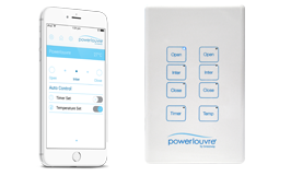 <strong></noscript>Powerlouvre</strong><p>Powerlouvres can be operated by the Apptivate Control Unit or Powerlouvre App.</p>