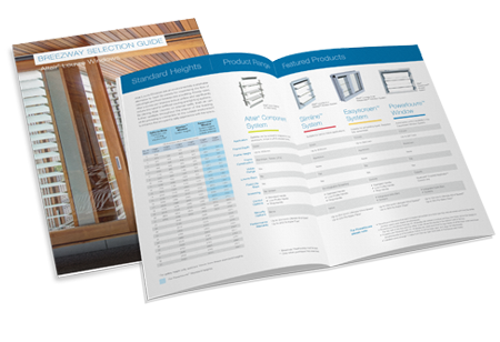 Breezway Altair Louvre Selection Guide